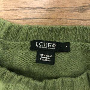 JCrew heavy wool crew neck sweater